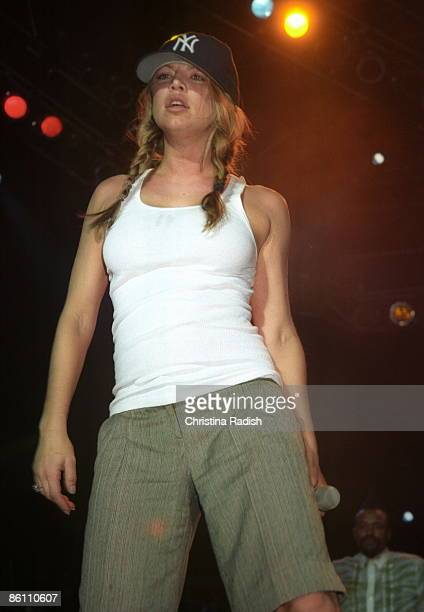 Photo of BLACK EYED PEAS Fergie of the Black Eyed Peas performing at the San Diego Street Scene in San Diego Calif on July 29 2005