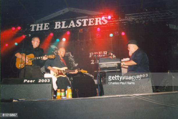 Photo of Blasters & Phil Alvin & Dave Alvin & Gene Taylor at the Belgium RNB Festival, Peer, Belgium 2003