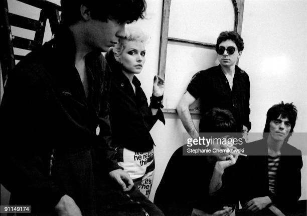 S Photo of BLONDIE Back row LR James Destri Debbie Harry Chris Stein Front row LR Clem Burke Frank Infante
