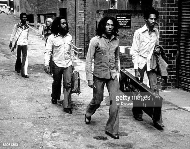 BIRMINGHAM Photo of Bob MARLEY and WAILERS Bob Marley and the Wailers arriving at Birmingham Odeon