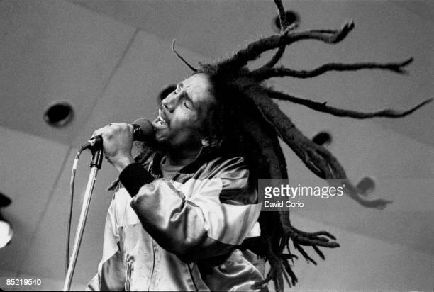 PALACE Photo of Bob MARLEY Bob Marley at Crystal Palace Bowl London Last show in UK 7th June 1980 EDITORIAL
