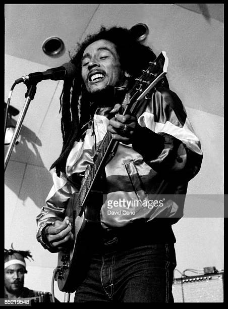 PALACE Photo of Bob MARLEY Bob Marley at Crystal Palace Bowl London May 1980 EDITORIAL