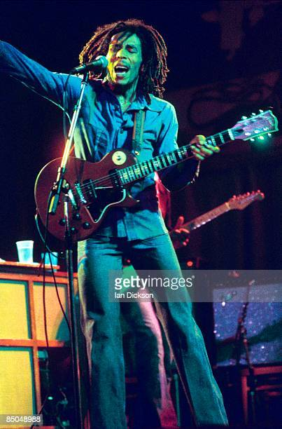 BIRMINGHAM Photo of Bob MARLEY Bob Marley performing live on stage at the Odeon