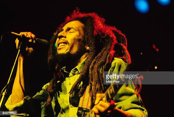 Photo of Bob MARLEY Bob Marley performing live on stage at the Brighton Leisure Centre