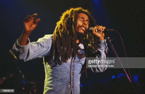 Photo of Bob Marley November 27 California Los Angeles Bob Marley performing at The Roxy Theatre 9009 West Sunset Boulevard