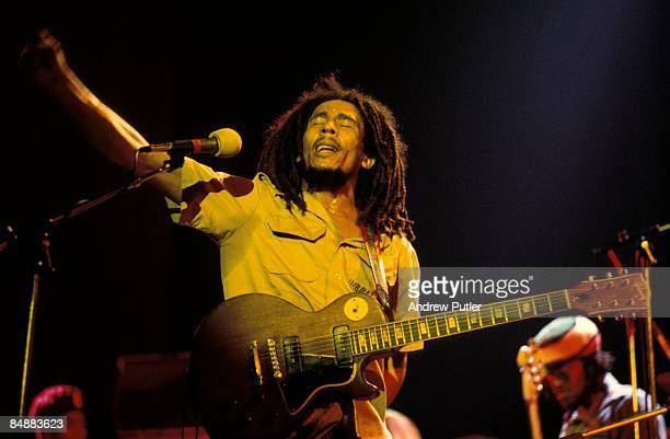 Photo of Bob MARLEY performing live on stage