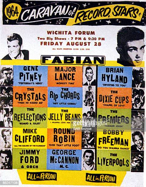 USA Photo of Bobby FREEMAN and Gene PITNEY and CONCERT POSTERS Caravan of Record Stars