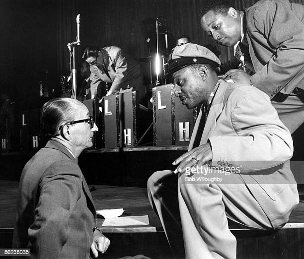 Photo of Bobby SLATER and Lionel HAMPTON; with Bobby Slater at the Hollywood Palladium