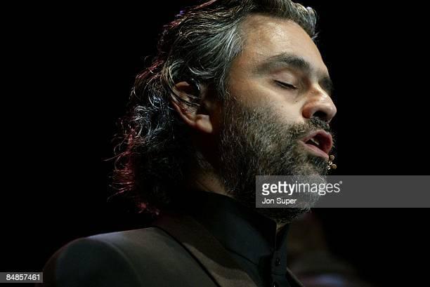 Photo of Bocelli; live at MEN Arena