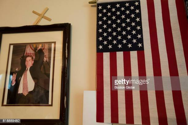A photo of Boston Mayor Marty Walsh from his first election hangs in his mother Mary's house in Boston on Jun 19 2017