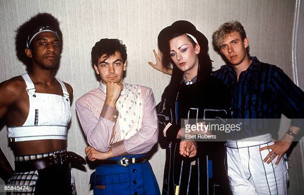 UNITED STATES JANUARY 01 Photo of BOY GEORGE and CULTURE CLUB Mikey Craig Jon Moss Boy George Roy Hay
