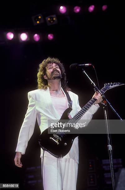 Photo of Brad DELP and BOSTON; Brad Delp performing at the Brendan Byrne Arena in East Rutherford, New Jersey