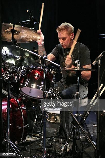 Photo of Brann DAILOR Mastodon drummer Brann Dailor performing on stage