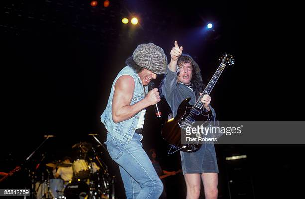 UNITED STATES NOVEMBER 22 Photo of Brian JOHNSON and AC/DC and Angus YOUNG and AC DC Brian Johnson and Angus Young performing live onstage