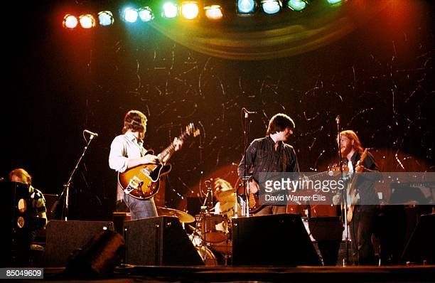 Photo of BRINSLEY SCHWARZ and Ian GOMM and Nick LOWE and Billy RANKIN, L-R: Brinsley Schwarz, Nick Lowe, Billy Rankin, Ian Gomm - performing live...