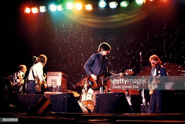 Photo of BRINSLEY SCHWARZ and Ian GOMM and Nick LOWE, L-R: ?, Brinsley Schwarz, Nick Lowe, Ian Gomm - performing live onstage, supporting Wings