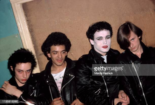 Photo of British Punk group Adam and the Ants London England September 1978 Pictured are from left Matthew Ashman Dave Barbe Adam Ant and Andy Warren