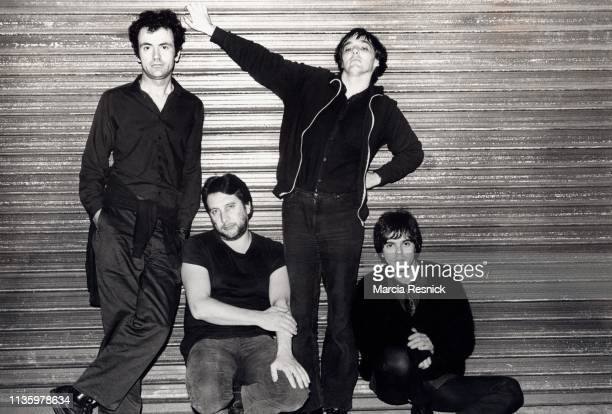 Photo of British Punk group the Stranglers, New York, New York, 1979. Pictured are, from left, Hugh Cornwell, Jet Black , Dave Greenfield, and...