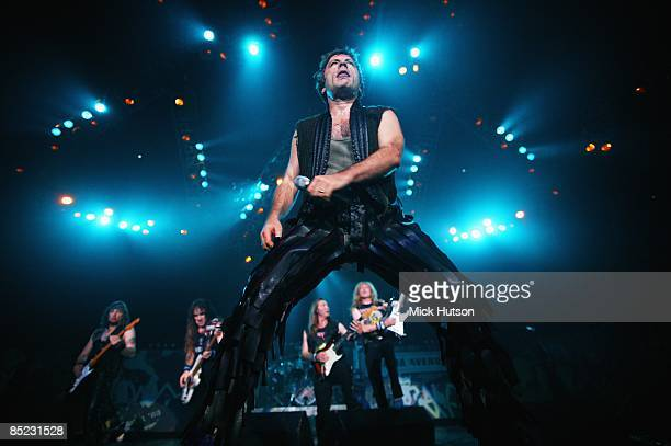 Photo of Bruce DICKINSON and IRON MAIDEN, Bruce Dickinson performing live onstage