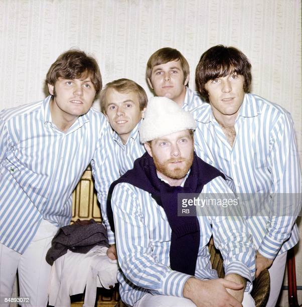 Photo of Bruce JOHNSTON and Al JARDINE and Mike LOVE and Dennis WILSON and Carl WILSON and BEACH BOYS; Group portrait L-R: Bruce Johnston, Al...