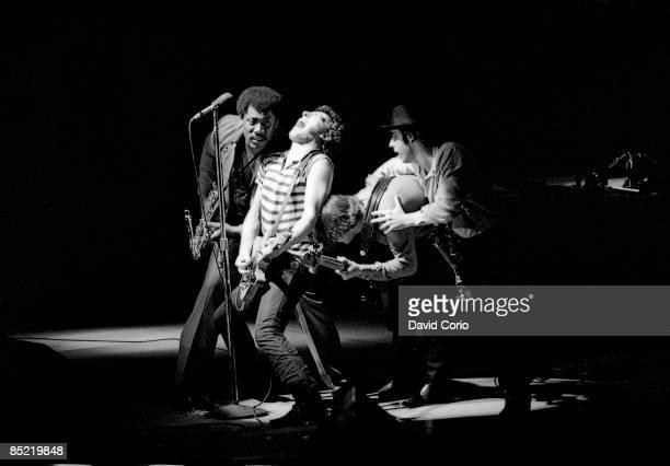 ARENA Photo of Bruce SPRINGSTEEN and LITTLE STEVEN and Steven VAN ZANDT LR Clarence Clemons Bruce Springsteen Gary Tallent Steven Van Zandt EStreet...