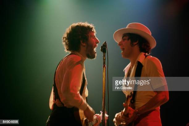 REDBANK Photo of Bruce SPRINGSTEEN and Steven VAN ZANDT Bruce Springsteen and Steven Van Zandt performing on stage Born to Run tour
