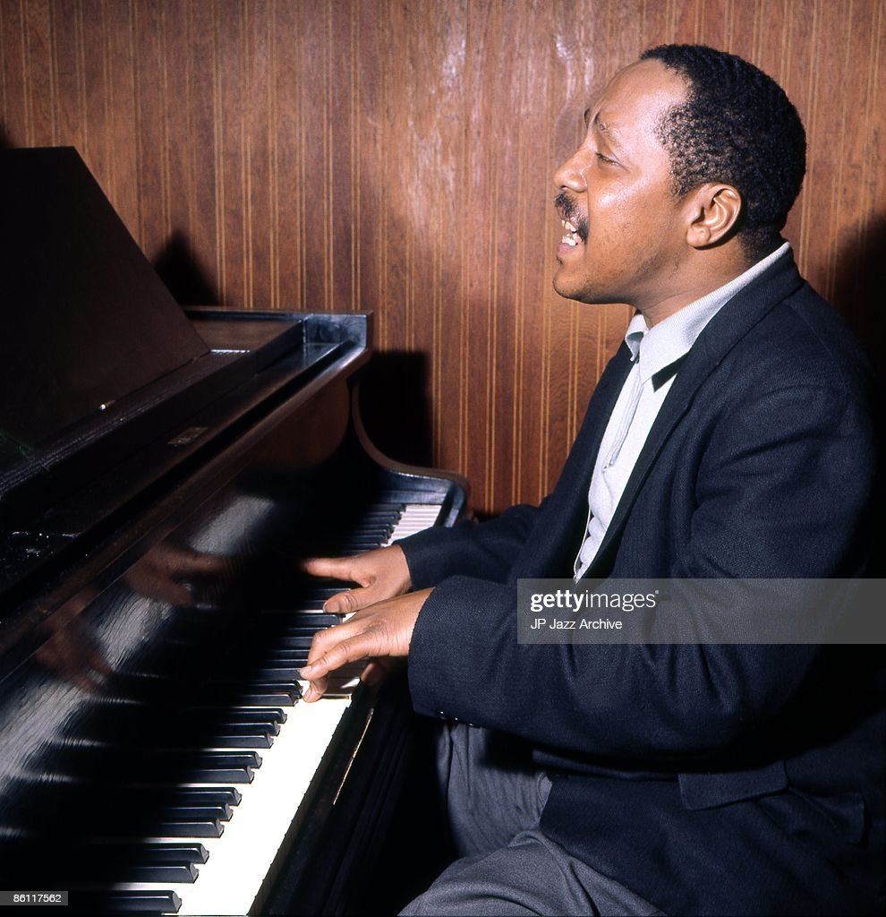 OUT Photo of Bud Powell 3; Bud Powell in the recording studio Copenhagen April 26 1962 for Storyville Records recording 'Bouncing with Bud'