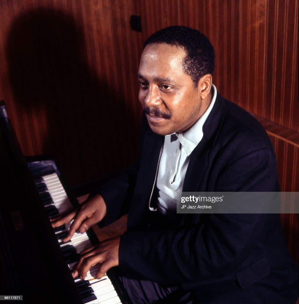 OUT Photo of Bud Powell 7; Bud Powell in the recording studio Copenhagen April 26 1962 for Storyville Records recording 'Bouncing with Bud'