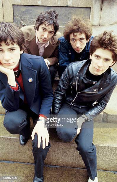 Photo of BUZZCOCKS John Maher Steve Diggle Pete Shelley Steve Garvey