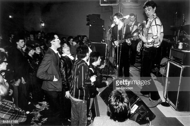 Photo of BUZZCOCKS LR Pete Shelley Garth Steve Diggle