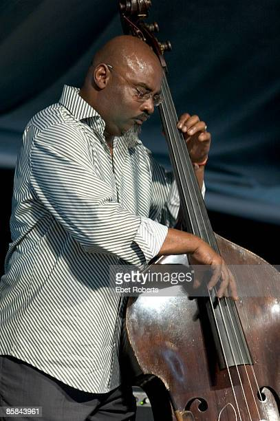 Photo of CANNONBALL ADDERLEY LEGACY; Vincent Archer of The Cannonball Adderley Legacy performing with Louis Hayes at the New Orleans Jazz and...