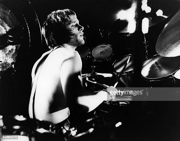 Photo of Carl PALMER and EMERSON LAKE & PALMER; Carl Palmer performing on stage,