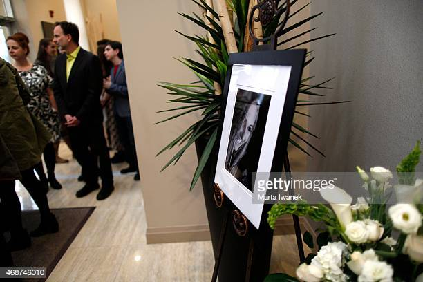 APRIL 4 A photo of Carley Allison is framed in the hallway during a gathering of friends and family to celebrate the life of Carley Allison at...