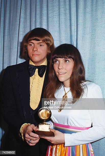 Photo of Carpenters March 1971 Carpenters Grammy Awards Photo by Michael Ochs Archives/Getty Images