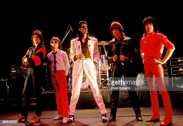 Photo of CARS; The Cars in Memphis,Tn. 1979, L to R: Ben Orr, Greg Hawkes, Ric Ocasek, Elliot Easton, David Robinson
