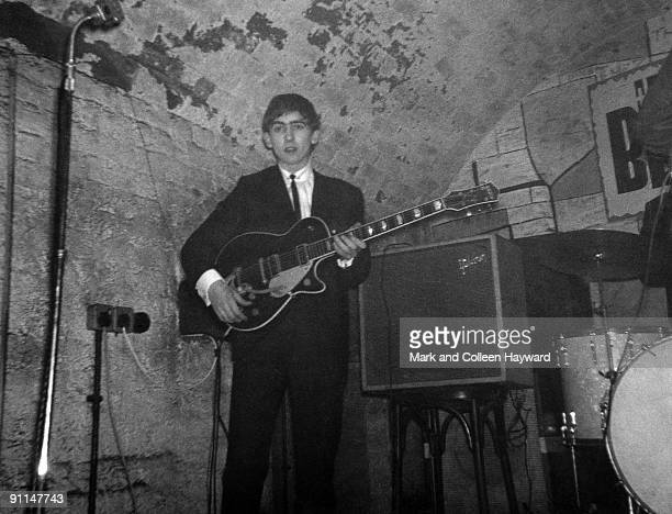 CLUB Photo of CAVERN CLUB and George HARRISON and BEATLES George Harrison performing live onstage playing Gretsch 6128 Duo Jet guitar