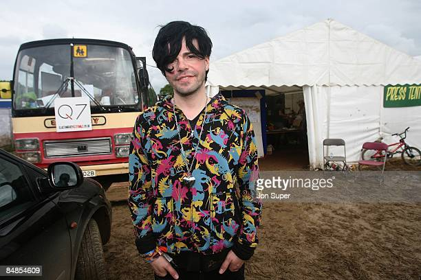 FESTIVAL Photo of CHARLATANS and Tim BURGESS of The Charlatans posed backstage festivals