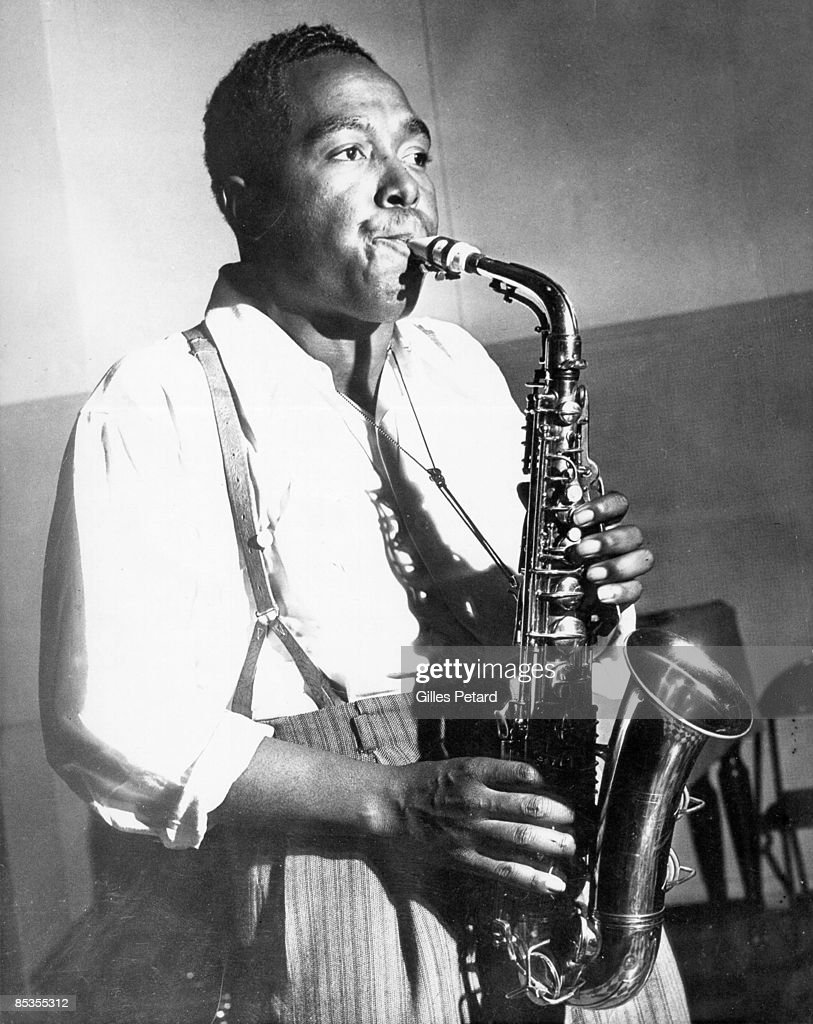 Photo of Charlie PARKER; Portrait of Charlie Parker playing the saxophone