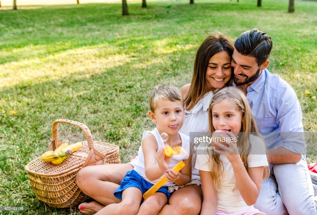 Photo of Cheerful family spending time together : Stock Photo