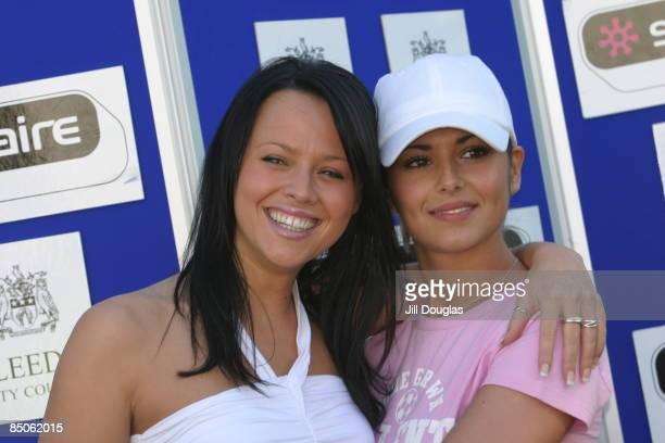 PARK Photo of Cheryl TWEEDY and Kimberley WALSH and GIRLS ALOUD Kimberley Walsh and Cheryl Cole posed