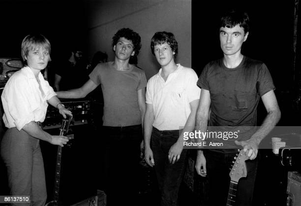 USA Photo of Chris FRANTZ and TALKING HEADS and David BYRNE and Jerry HARRISON LR Tina Weymouth Jerry Harrison Chris Frantz David Byrne