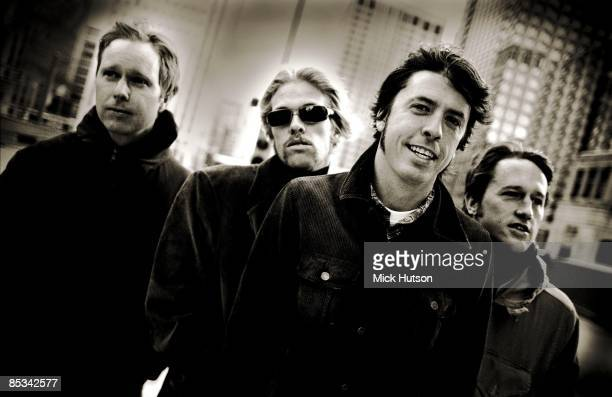 Photo of Chris SHIFLETT and FOO FIGHTERS and Nate MENDEL and Dave GROHL and Taylor HAWKINS LR Nate Mendel Taylor Hawkins Dave Grohl Chris Shiflett...