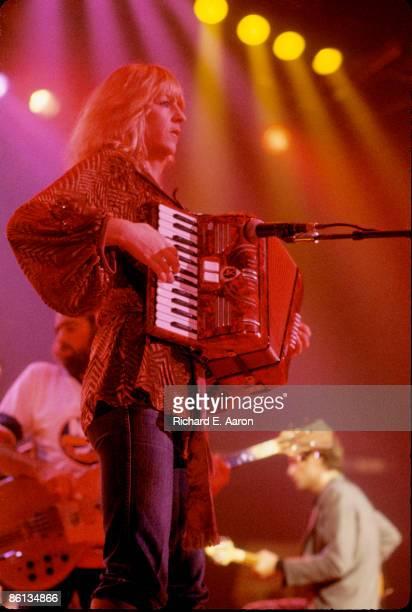 Photo of Christine McVIE and FLEETWOOD MAC; L-R. John McVie , Christine McVie, Lindsey Buckingham performing live onstage