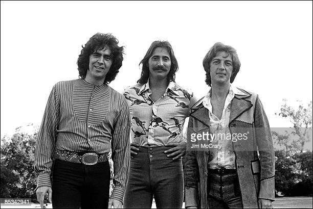 Photo of Chuck NEGRON and Cory WELLS and Danny HUTTON and THREE DOG NIGHT; Posed group portrait L-R Danny Hutton, Chuck Negron and Cory Wells