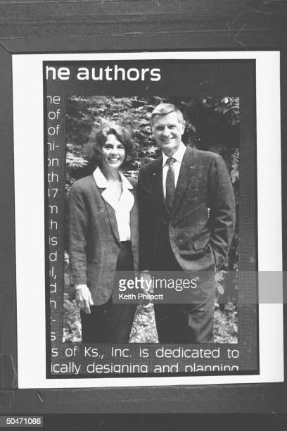 Photo of church builder Roe Messner posing w wife Ruth Ann on back flap of his book BUILDING FOR THE MASTER BY DESIGN he has been a close friend...
