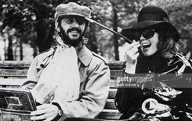 Photo of Cilla BLACK and Ringo STARR; Ringo Starr and Cilla Black - filming Cilla Black Show