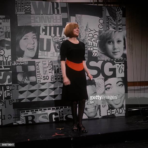 Photo of Cilla BLACK, Cilla Black performing on tv show at Television House, Kingsway