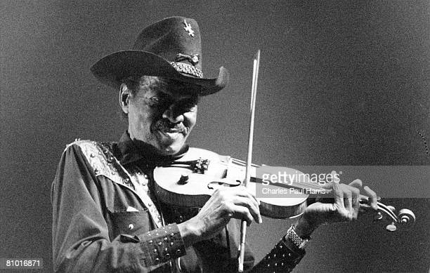 Photo of Clarence 'Gatemouth' Brown at The Bottom Line Shepherds Bush, London 1995