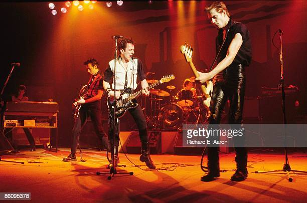 PALLADIUM Photo of CLASH LR Mick Jones Joe Strummer Paul Simonon performing live onstage