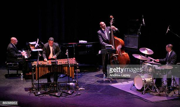 FESTIVAL Photo of CLASSICAL JAZZ QUARTET and Kenny BARRON and Stefon HARRIS and Ron CARTER and Lewis NASH Group performing on stage LR Kenny Barron...